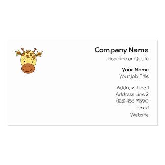 Desenhos animados bonitos do girafa cartão de visita