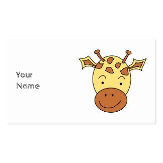 Desenhos animados bonitos do girafa cartao de visita