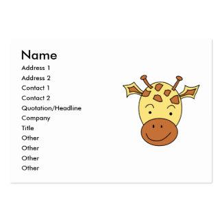 Desenhos animados bonitos do girafa cartões de visita