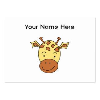 Desenhos animados bonitos do girafa cartão de visita grande