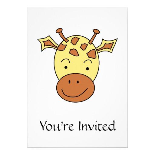 Desenhos animados bonitos do girafa convites