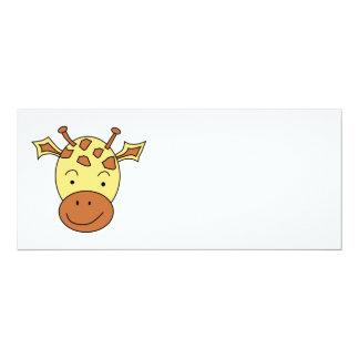 Desenhos animados bonitos do girafa convite 10.16 x 23.49cm