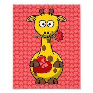 Desenhos animados bonitos do girafa dos namorados fotos