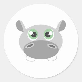 Desenhos animados bonitos do hipopótamo adesivo