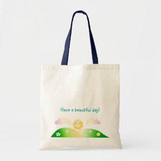 Desenhos animados bonitos do kawaii do sol bolsa para compra