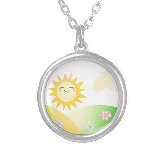 Desenhos animados bonitos do kawaii do sol bijuterias personalizadas