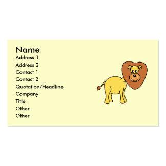Desenhos animados bonitos do leão cartões de visitas