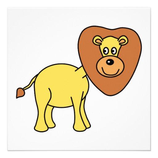 Desenhos animados bonitos do leão convites