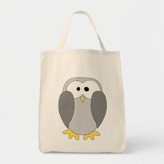 Desenhos animados bonitos do pinguim bolsas para compras