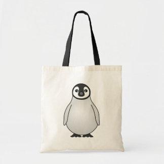 Desenhos animados bonitos do pinguim de imperador  sacola tote budget