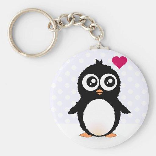 Desenhos animados bonitos do pinguim chaveiro