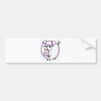 Desenhos animados bonitos do porco adesivos