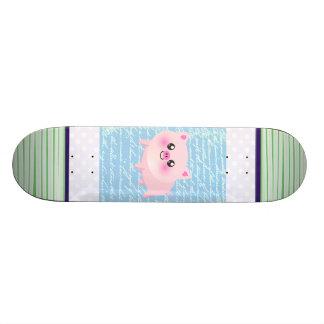 Desenhos animados bonitos do porco shape de skate 18,4cm