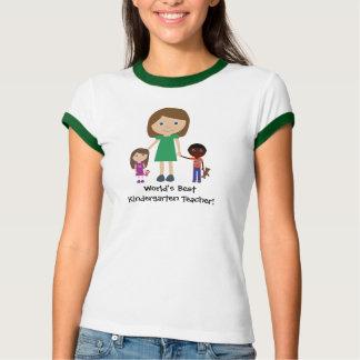 Desenhos animados bonitos do professor de jardim tshirt