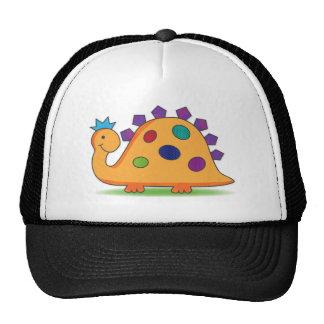 Desenhos animados bonitos e coloridos dinossauro boné