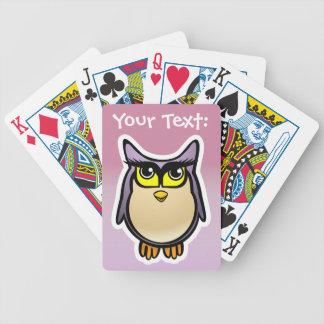 Desenhos animados bonitos personalizados da coruja jogo de carta