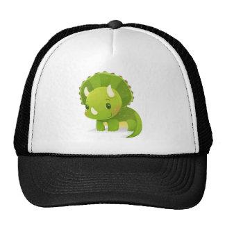 desenhos animados bonitos verdes do dinossauro boné