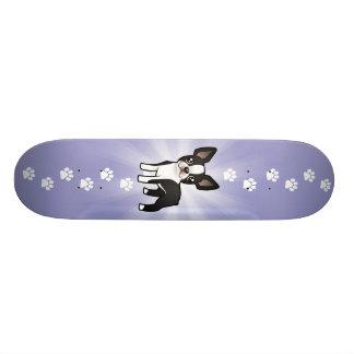 Desenhos animados Boston Terrier Shape De Skate 20,6cm