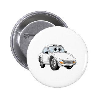 Desenhos animados brancos do carro de esportes boton