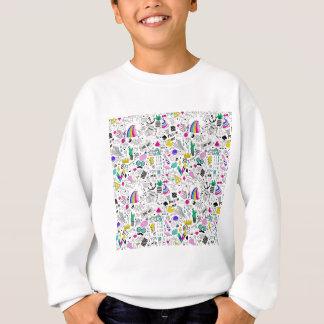 Desenhos animados brancos do esboço do arco-íris agasalho