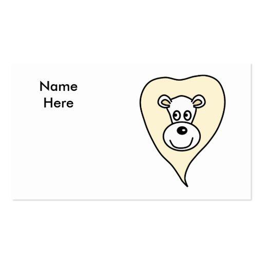 Desenhos animados brancos do leão cartões de visita