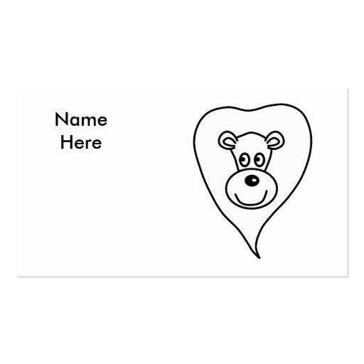 Desenhos animados brancos do leão modelo cartões de visita