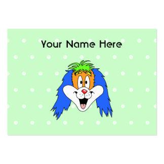 Desenhos animados brilhantes e coloridos do cartão de visita grande
