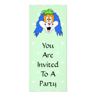 Desenhos animados brilhantes e coloridos do convite 10.16 x 23.49cm