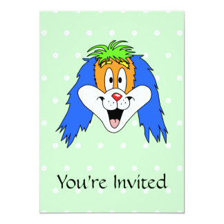 Desenhos animados brilhantes e coloridos do convite 12.7 x 17.78cm