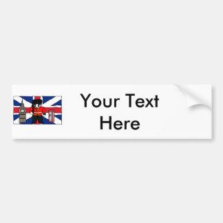 Desenhos animados britânicos da cabine de telefone adesivo de para-choque