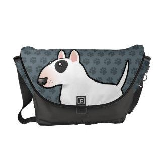 Desenhos animados bull terrier bolsas mensageiro