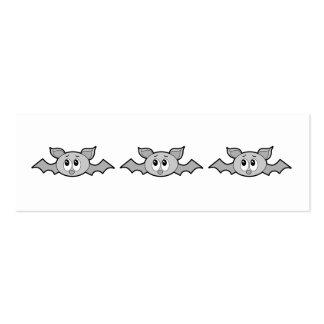 Desenhos animados cinzentos do bastão modelo cartões de visitas