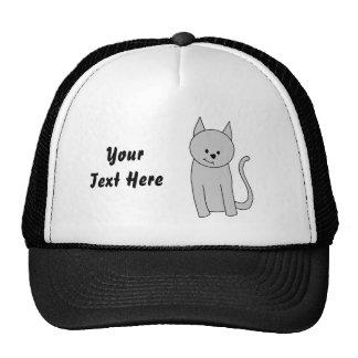 Desenhos animados cinzentos do gato bone