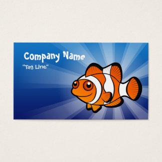 Desenhos animados Clownfish Cartão De Visitas