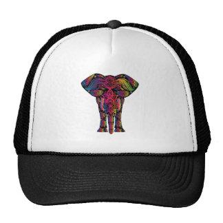 Desenhos animados coloridos do elefante boné