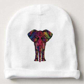 Desenhos animados coloridos do elefante gorro para bebê