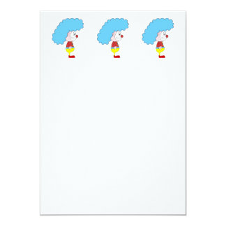 Desenhos animados coloridos do palhaço. Cabelo Convite