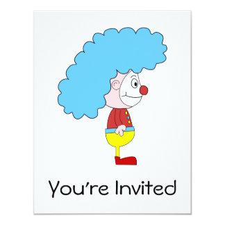 Desenhos animados coloridos do palhaço. Cabelo Convite 10.79 X 13.97cm