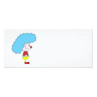 Desenhos animados coloridos do palhaço. Cabelo Convite 10.16 X 23.49cm