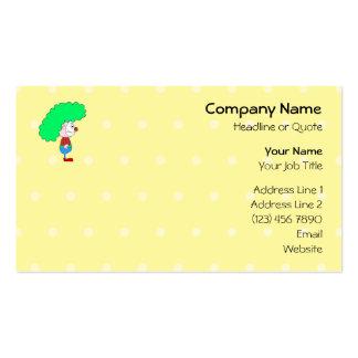 Desenhos animados coloridos do palhaço cartão de visita