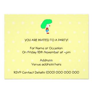 Desenhos animados coloridos do palhaço convites personalizado