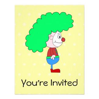 Desenhos animados coloridos do palhaço convite personalizado