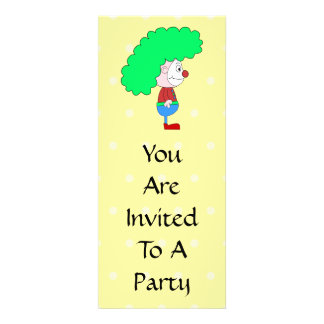 Desenhos animados coloridos do palhaço convites