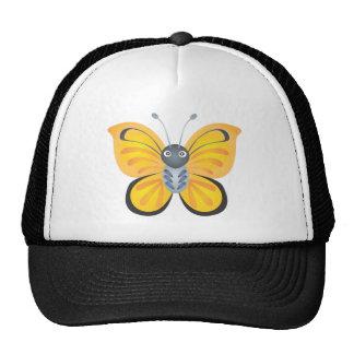 Desenhos animados coloridos felizes da borboleta boné