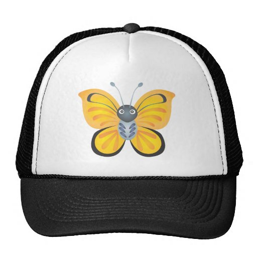 Desenhos animados coloridos felizes da borboleta bones