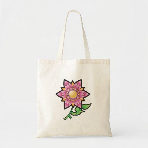 Desenhos animados cor-de-rosa da flor bolsa