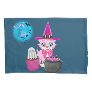 Desenhos animados cor-de-rosa do Dia das Bruxas do