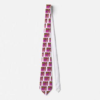 Desenhos animados cor-de-rosa e roxos do rapper gravata