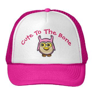 Desenhos animados cor-de-rosa personalizados da boné