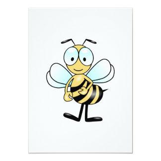 Desenhos animados da abelha convites personalizados